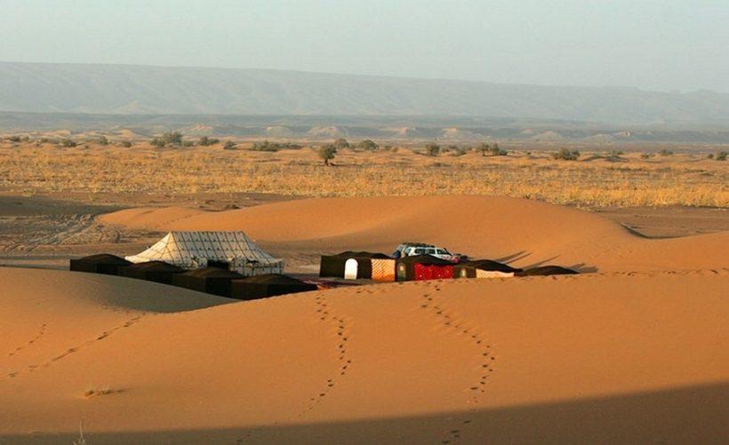 bivouac camp chegaga maroc