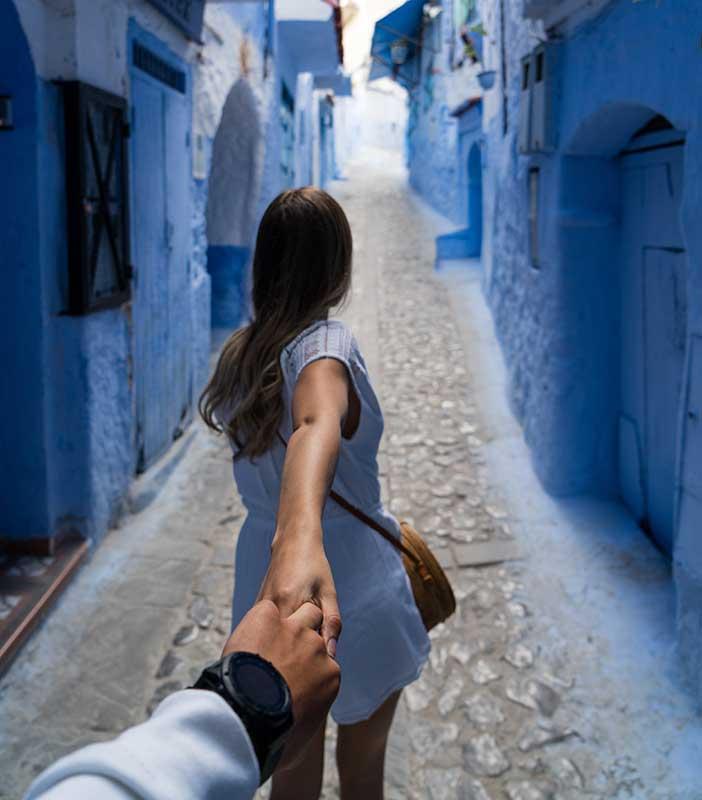 Ville bleu Chefchawen Maroc